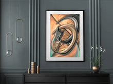 Abstract colour photo download, Intertwined rings or petals, hang vertically or horizontally, Titled: Restless Rose DIY printable art work for $9.85