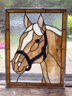 Stained Glass Horse's Head