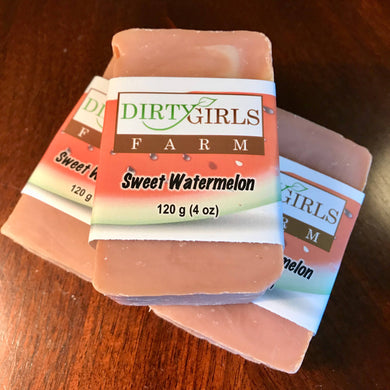 All Natural / Handcrafted /Artisanal / Cold Processed Soap: SWEET WATERMELON (Seasonal)