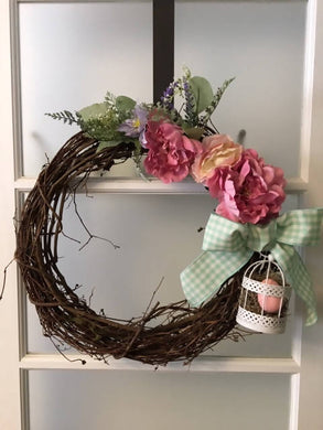 Whimsical Spring Wreath with Birdage