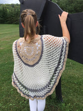 Crochet Poncho in Autumn Colors