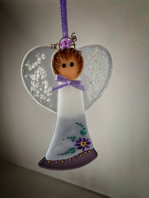 Fused glass Angel (June)