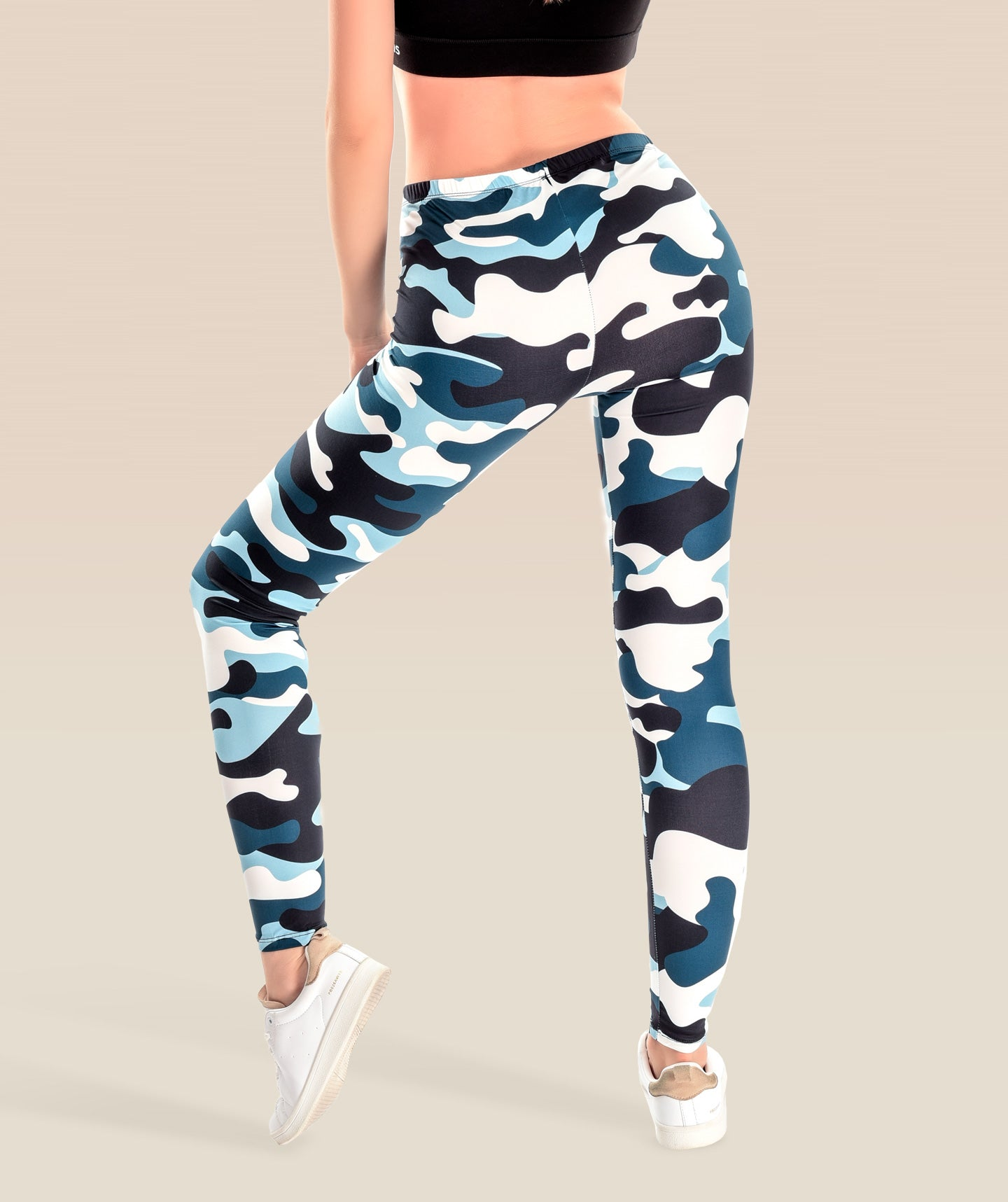 Camo Navy Blue Leggings