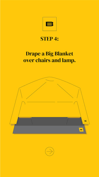 How to Build a Big Blanket Fort - Step 4
