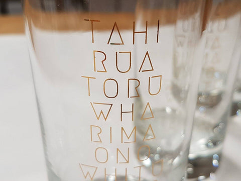 Māori numbers glass