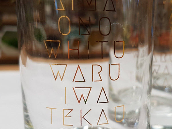 Māori numbers hiball glass