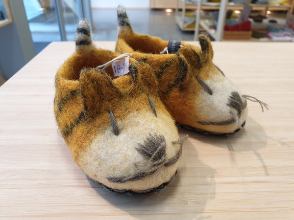 Felt Tiger Slippers - 2 sizes