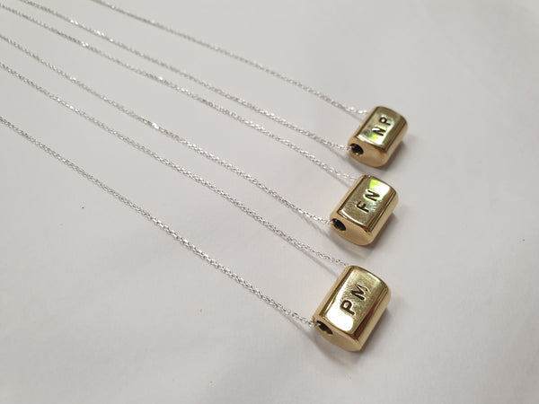 Guywire Initial Charm necklace
