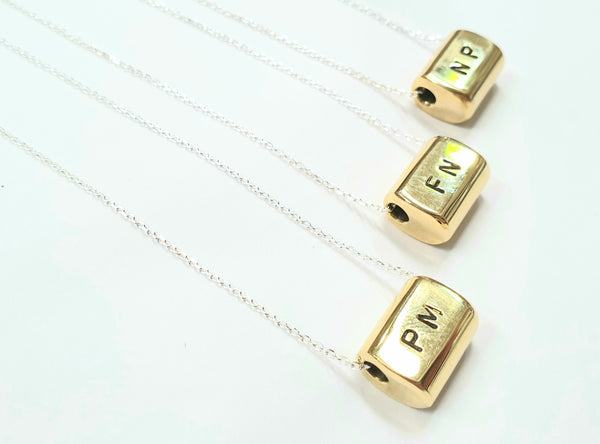 Guywire Charm necklace with CUSTOM initials