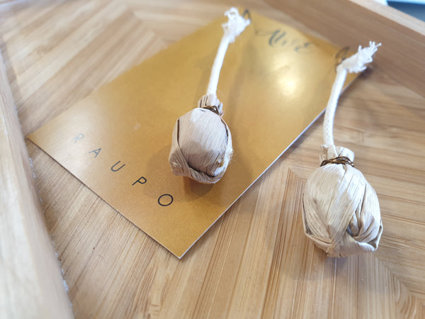 Raupo Poi earrings
