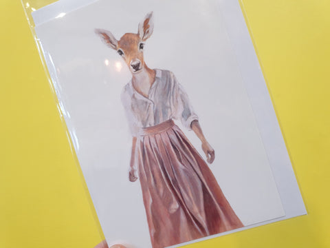 Card - Dressed Deer