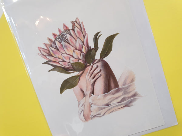 Card - Protea Head