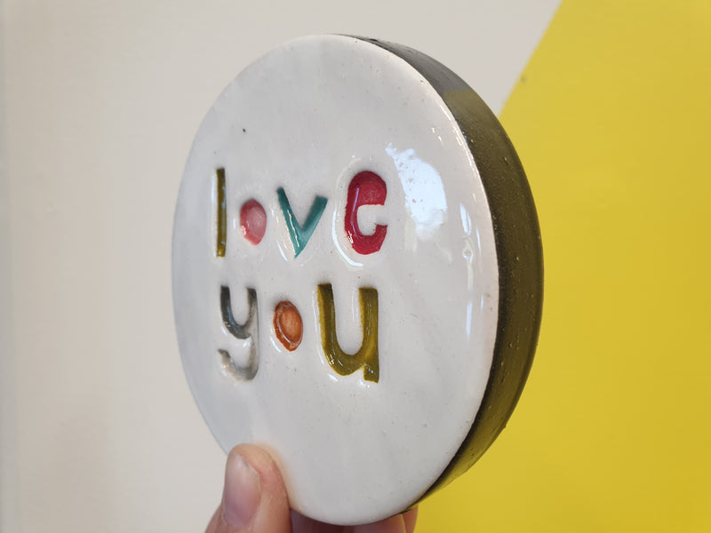 LOVE YOU wall tile round
