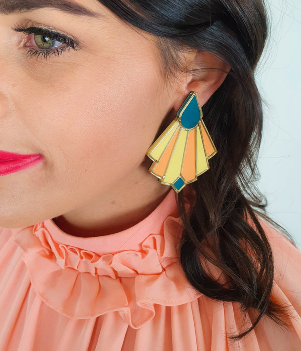 Lover Lover Florence earrings lemon/pink