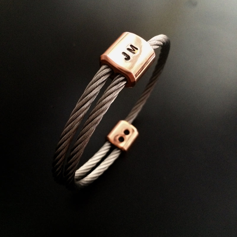 Guywire Bracelet with CUSTOM initials