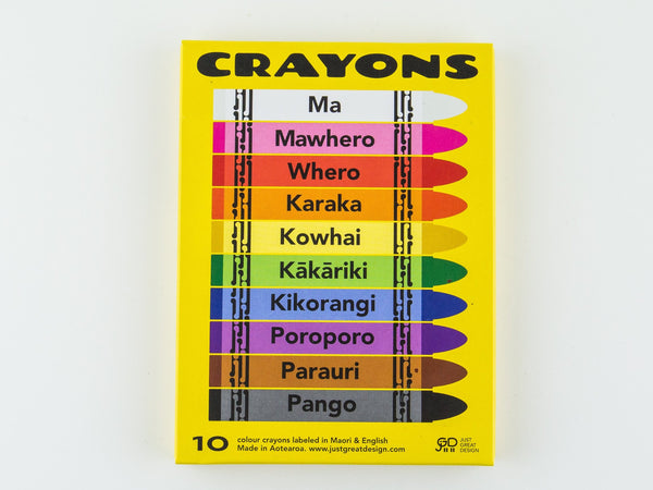 Crayons Māori/English names