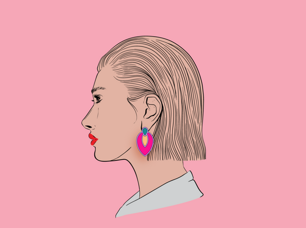 Lover Lover Lulu earrings hot pink/lavender