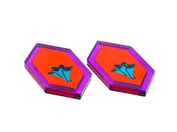 Lover Lover Ivy earrings purple/neon red