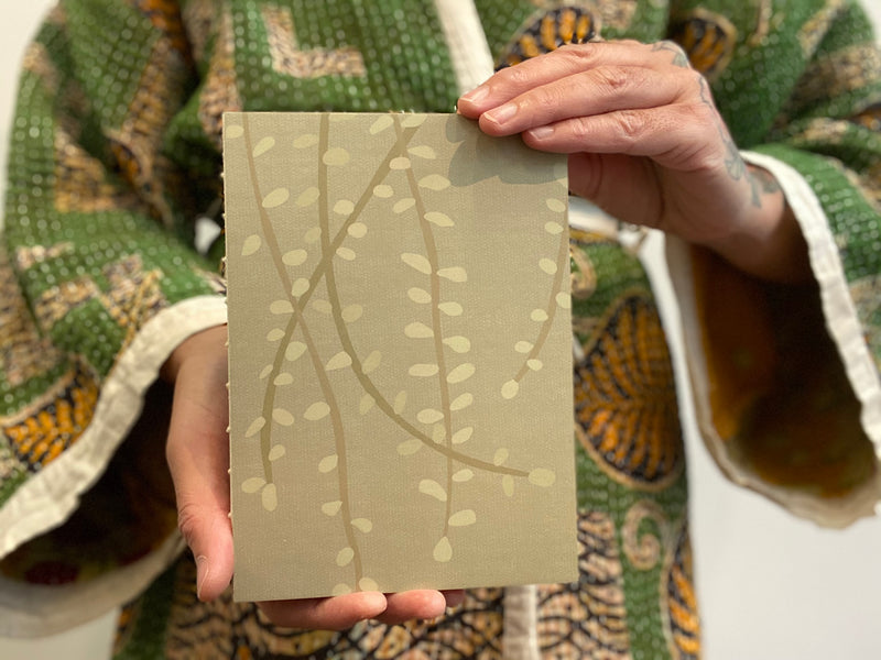 Bound Kowhai Leaves journal