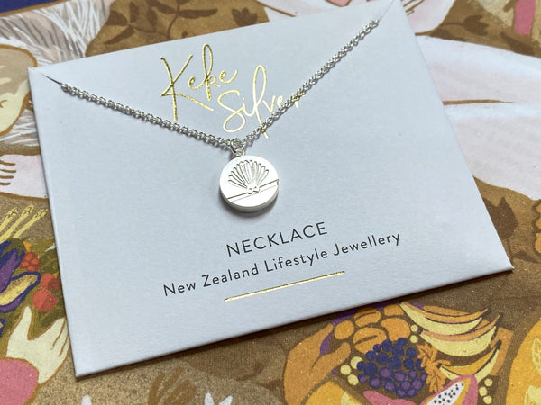 Keke Silver necklace - Fantail