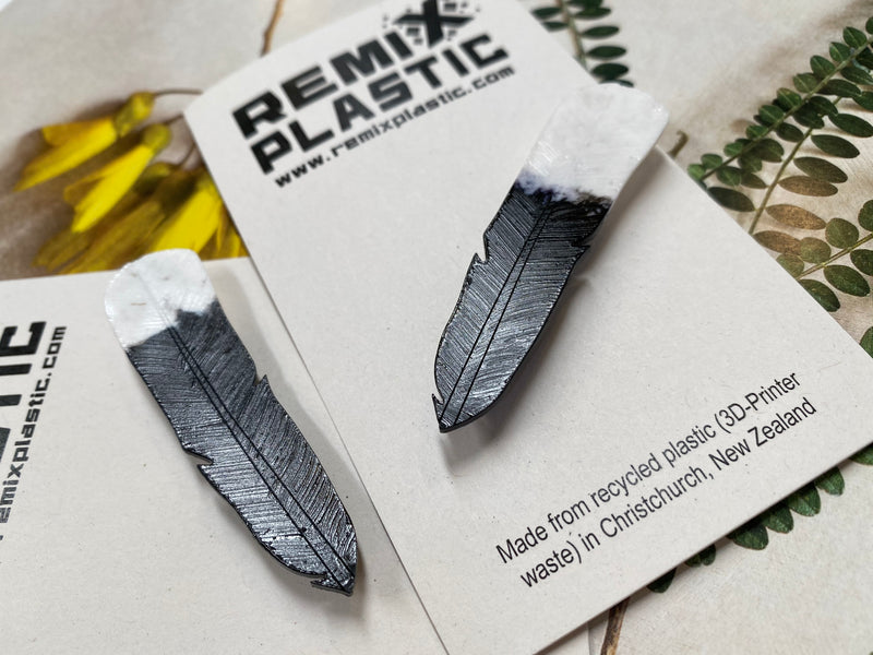Remix Recycled Plastic Huia brooch