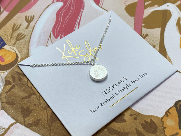 Keke Silver necklace - Feather Duo