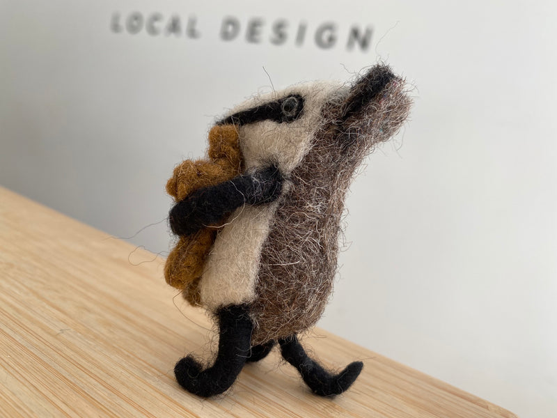 Felt Badger with Teddy
