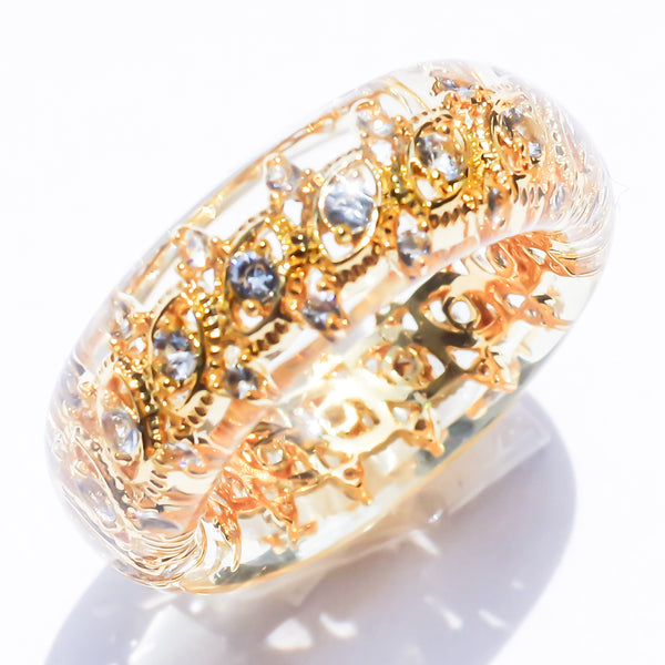 JEWEL RING -marquis-shaped-
