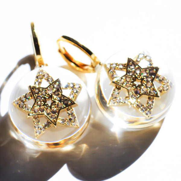 STAR PIERCE -crystal star-(1pair)