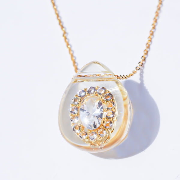 DROP QUEEN PENDANT-clear-