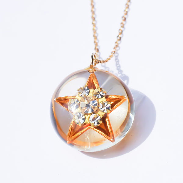 BALL STAR PENDANT-gold-
