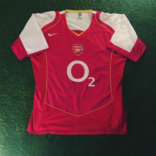 Arsenal Home Shirt 2004 2005 XL