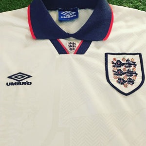 England Home Shirt 1993 1995 XL