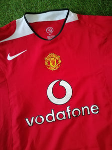 Manchester United Home Shirt 2004 2006 L