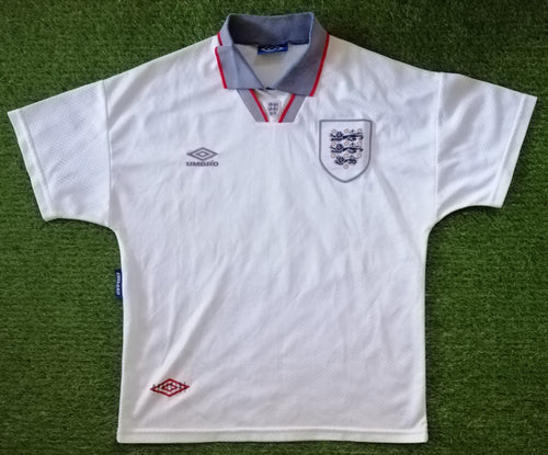 England Home Shirt 1993 1994 M