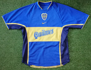 Boca Juniors Home Shirt 2001 S