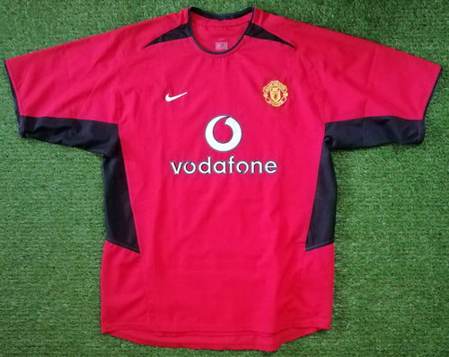 Manchester United Home Shirt 2002 2004 L