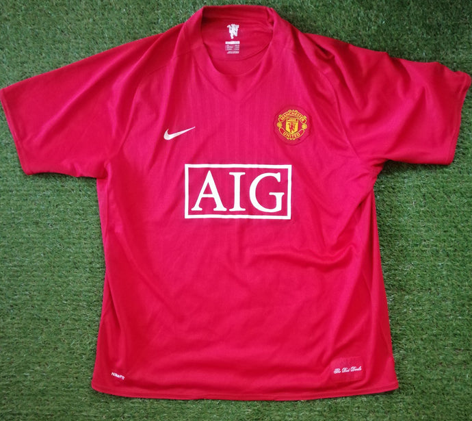 Manchester United Home Shirt 2007 2009 XL