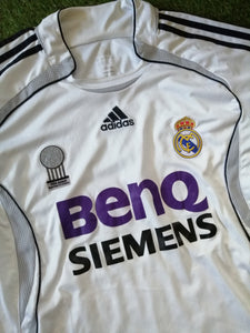 Real Madrid Home Shirt 2006 2007 L
