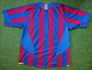 FC Barcelona Home Shirt 2005 2006 XL