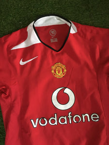 Manchester United Home Shirt 2004 2006 S