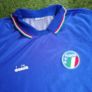 Italy Home Shirt World Cup 1990 M