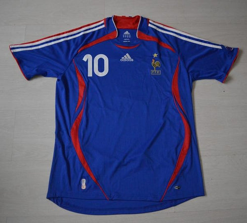 France Home Shirt World Cup 2006 #10 Zidane