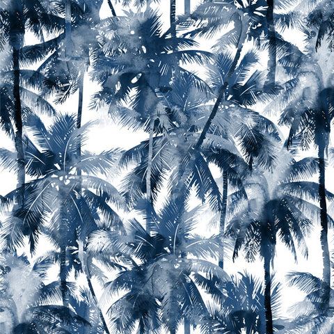 Custom Shirt Pattern Blue Palms