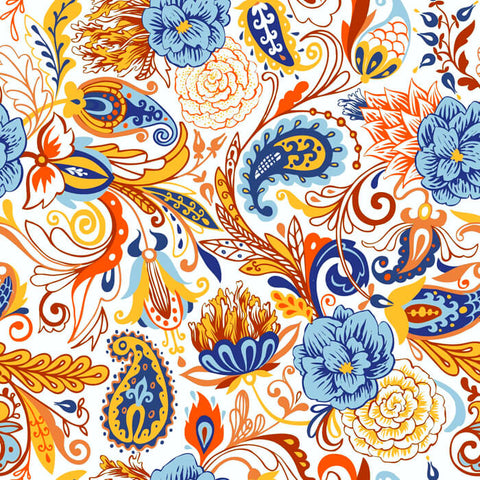 Custom Shirt Pattern Floral Paisley