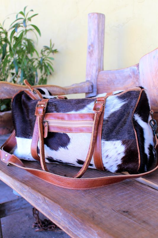 Weekend Nights Cowhide Duffel