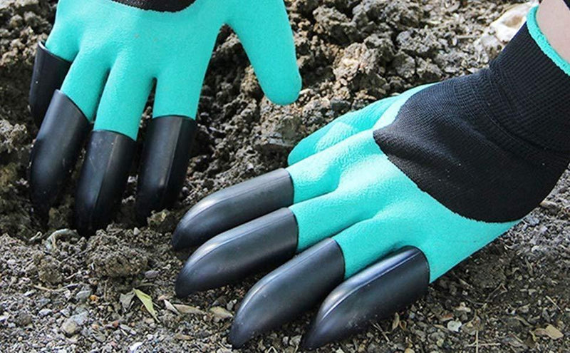 Garden Waterproof Gloves with Claw For Digging Planting