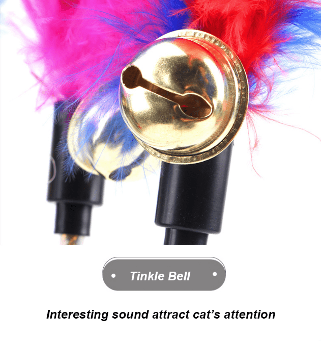 Feather /Teaser Bell Cat Toy