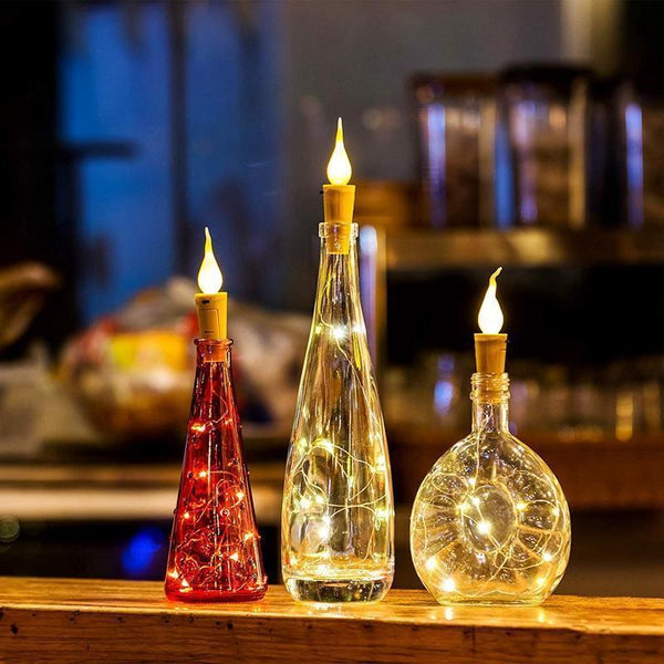 (Hot selling 50,00 items )Gorgeous Flame Bottle Lights