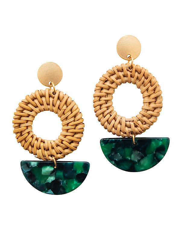 Cabana Earrings • Emerald